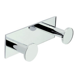 "Ginger - Ginger 2810D/PC Polished Chrome Surface Surface Double Hook Robe Hook - Double Hook Holder  6.7""W x 2.2""H x 2.4""D"