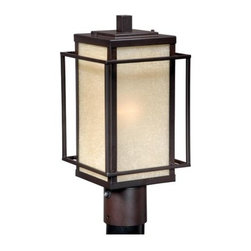 Vaxcel Lighting - Vaxcel Lighting RB-OPU070 Robie 1 Light Outdoor Post Light - Features: