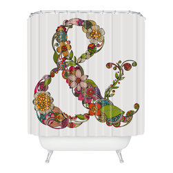 DENY Designs - Valentina Ramos Ampersand Shower Curtain - Who says bathrooms can't be fun? To get the most bang for your buck, start with an artistic, inventive shower curtain. We've got endless options that will really make your bathroom pop. Heck, your guests may start spending a little extra time in there because of it!