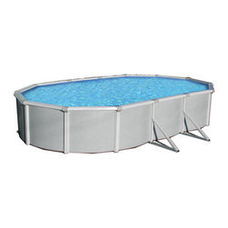 Blue Wave - Blue Wave Samoan Oval 52 Inch Above Ground Pool - 21 ft x 41 ft - Features: