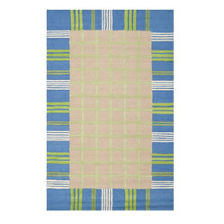 Safavieh - Kids Safavieh Kids 5'x8' Rectangle Taupe-Blue Area Rug - The Safavieh Kids area rug Collection offers an affordable assortment of Kids stylings. Safavieh Kids features a blend of natural Taupe-Blue color. Hand Tufted of Wool the Safavieh Kids Collection is an intriguing compliment to any decor.
