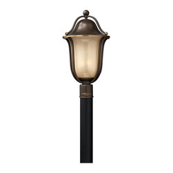 Hinkley Lighting - Hinkley Lighting 2631OB-GU24 Hinkley Lighting 2631BK-GU24 Black 1 Light Fluoresc - Hinkley Lighting 2631 Bolla Energy Saving Post Light The graceful lines of Bolla create a soft elegance, while heavy cast ball transitions add to its