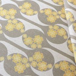 Organic Fabric - Blossom - Certified Organic Cotton/Hemp blend, 8-11oz, Printed in USA