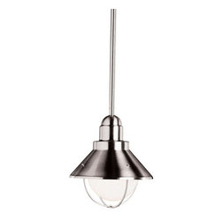Kichler - Kichler 2621NI Seaside Single-Bulb Indoor Pendant with Cone-Shaped Metal Shade - Kichler 2621 Seaside Outdoor Pendant