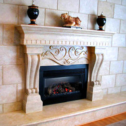 Danielle Mantel - The Danielle features two beautiful curved legs that support a stylized lintel.