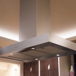 """Zephyr - Roma Series ZRM-E42CS 42"""" Island Mount Chimney Range Hood with 600 CFM Internal - The beautiful design of the Roma range hood makes it perfect for any kitchen setting The Roma range hood features ACT internal blower with airflow control technology ACT is a feature built into specific Zephyr hoods allowing you to limit the maximum ..."""