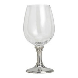 Match Pewter - Tosca Crystal Water Glass by Match Pewter - Stemware fit for a king and queen, the crystal and pewter collection from Match is made using techniques passed down from the Renaissance. Each piece is hand forged in Italy, and bears a symbol from the region in which it was made.