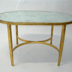 Worlds Away : Gold Leaf Coffee Table - Special order only.