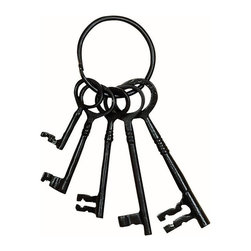 Home Decorators Collection - Kate Decorative Keys - With an elegant black finish, the Kate Decorative Keys are a great accent piece to add to your entryway table or on a bookshelf. They will become an instant favorite. Order today. Finished in black. Durable construction.