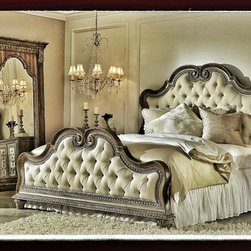 Arabella upholstered bed -