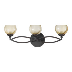 Triarch International - Triarch 25373 Retro Bronze 3 Light Vanity - Triarch 25373 Retro Bronze 3 Light Vanity