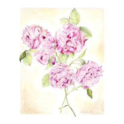 """Climbing Rose, Original Mixed Media Drawing, Original, Drawing - natural history botanical art, very detailed and delicately colored. inspired by vintage floral art, this is a mixed media drawing of my climbing roses. a skillfully rendered art piece for your home decor, this piece would be wonderful in a grouping! the paper size is 14"""" x 17"""", the image size is appx. 10.5"""" x 13.5"""". will fit nicely into 16 x 20 inch frame with mat. on 110 lb smooth crisp white paper made for detailed art. will be shipped unframed in rigid cardboard packaging.  please note: colors may vary slightly due to photography and difference in monitors.the copyright watermark shown here is not a part of the original art or prints. purchase of original art does not transfer reproduction rights."""