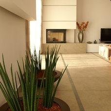 Modern Indoor Fireplaces by Maria Ypsilanti  I.D. Interior design