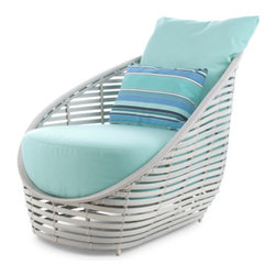Kenneth Cobonpue - Kenneth Cobonpue Oasis Lounge Chair - This woven lounge chair is constructed of polyetheylene on a aluminum base.  Available in brown or whitewash finish.  Intended for outdoor use.  Manufactured by Kenneth Cobonpue in The Philippines.  Price includes delivery to the USA.