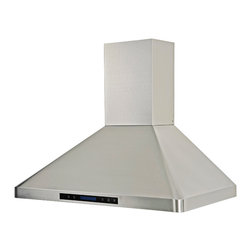 Ariel - Cavaliere-Euro AP238-PS31-36 Stainless Steel Wall Mount Range Hood - Cavaliere Stainless Steel 288W Wall Mounted Range Hood with 4 Speeds, Timer Function, LCD Keypad, Stainless Steel Baffle Filters, and Halogen Lights