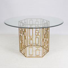 eclectic dining tables by Julie Thigpen