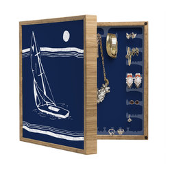 DENY Designs - Leeana Benson Midnight Ride BlingBox Petite - Handcrafted from 100% sustainable, eco-friendly flat grain Amber Bamboo, DENY Designs BlingBox Petite measures approximately 15 x 15 x 3 and has an exterior matte cover showcasing the artwork of your choice, with a coordinating matte color on the interior. Additionally, the BlingBox Petite includes interior built-in clear, acrylic hooks that hold over 120 pieces of jewelry! Doubling as both art and an organized hanging jewelry box, It's bound to be the most functional (and most talked about) piece of wall art in your home! Custom made in the USA for every order.