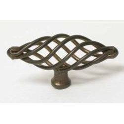 Top_Knobs - Top Knobs - Medium Oval Twist Knob 3 Inch - Oil Rubbed Bronze - M779 - Normandy, Nouveau III Collection, Steel Base Material,  Weight: 0.1 Lbs