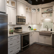 Transitional Kitchen Cabinetry by Lifestyle Builders & Developers, Inc.