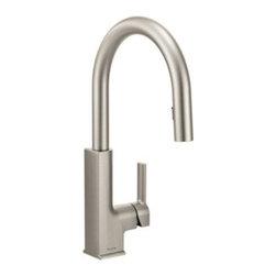 Moen - Moen STo Single Handle High Arc Pulldown Kitchen Faucet, Spot Resist Stainless - Moen S72308SRS STo Single Handle High Arc Pulldown Kitchen Faucet, Spot Resist Stainless