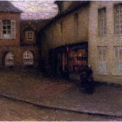 """Art MegaMart - Henri Le Sidaner The Small Shop - 21"""" x 28"""" Premium Canvas Print - 21"""" x 28"""" Henri Le Sidaner The Small Shop premium canvas print reproduced to meet museum quality standards. Our museum quality canvas prints are produced using high-precision print technology for a more accurate reproduction printed on high quality canvas with fade-resistant, archival inks. Our progressive business model allows us to offer works of art to you at the best wholesale pricing, significantly less than art gallery prices, affordable to all. We present a comprehensive collection of exceptional canvas art reproductions by Henri Le Sidaner."""