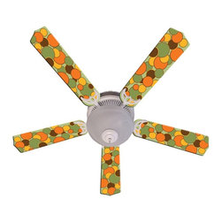 Ceiling Fan Designers - Ceiling Fan Designers Flashback Indoor Ceiling Fan - 42FAN-IMA-FBD - Shop for Ceiling Fans and Components from Hayneedle.com! Add a splash of great retro design to your room with the Ceiling Fan Designers Flashback Indoor Ceiling Fan. What a fun ceiling fan! This one has great colors an oval design and will cool and light your room in high style. It includes the ceiling fan and a light kit. It's available in your choice of size: 42-inch with 4 blades or 52-inch with 5. The blades are reversible so you get the colorful design on one side and classic white on the other. It has a powerful yet quiet 120-volt 3-speed motor with easy switch for year-round comfort. The 42-inch fan includes a schoolhouse-style white glass shade and requires one 60-watt candelabra bulb (not included). The 52-inch fan has three alabaster glass shades and requires three 60-watt candelabra bulbs (included). Your ceiling fan includes a 15- to 30-year manufacturer's warranty (based on size). Groovy!