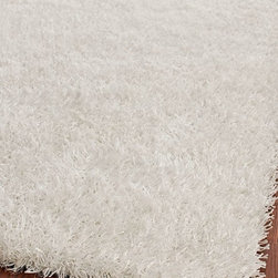 Safavieh - Shag Shag 6'x9' Rectangle Off White-Off White Area Rug - The Shag area rug Collection offers an affordable assortment of Shag stylings. Shag features a blend of natural Off White-Off White color. Hand Tufted of Polyester the Shag Collection is an intriguing compliment to any decor.