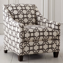 Corinna Accent Chair by Bassett Furniture - Available in fabric or leather.