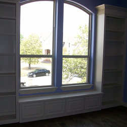 Job # 08-410 - Painted Bookcases and Window Seat