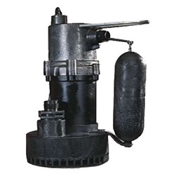 "Little Giant - Little Giant 5.5-ASP Automatic Sump Utility Pump - Automatic, 1/4 HP sump pump. 1-1/4"" FNPT discharge. Includes garden hose adapter and removable inlet screen for easy cleaning. Lifetime oil supply. Pump operates in 7"" to 10"" depth of water and shuts off at 2""-5"". For use in basement sumps and other general wastewater removal."