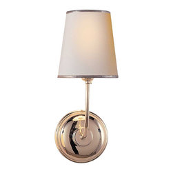 Vendome Single Sconce   Circa Lighting - Just a little lamp will do in a tiny entryway. This one is simple and unfussy.