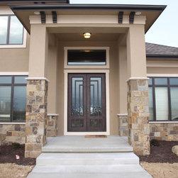 Contemporary Door - 6' x 9' Contemporary Iron Entry Door
