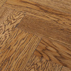 Oak Terracota (herringbone) - Oak Terracotta is abeautiful fixed-length brushed and oiled oak floor. All planks have a fixed length, which allows them to be installed in a wide range of patterns and create any desired effect. Oak Terracotta is manufactured as 2-layer engineered hardwood and comes prefinished with Silk Oil.