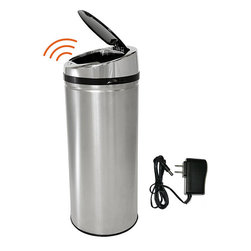 iTouchless - iTouchless 13 Gallon Automatic Stainless Steel Touchless Trash Can NX with AC Ad - Ideal for a kitchen or bathroom, this small 13-gallon stainless-steel trash can helps to prevent odors and the spread of germs. It features a sensor technology for hands-free operation, and it can run off batteries, which makes it portable.