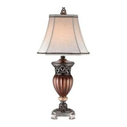 """Asia Direct - Antique Style Decorative Finish Table Lamp with Lamp Shade - Antique style decorative finish table lamp with lamp shade. Measures 15"""" x 32"""" H. Some assembly required. Matching floor lamp also available."""
