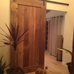 Reclaimed Barn Door Design Ideas from Projects in NYC, New Jersey & Connecticut - Custom Made Barn Wood Door - Fabricated and Finished in our Mill