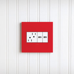 USB outlet - Charge your cell phone at a convenient location with the adorne USB outlet and select an adorne tamper-resistant outlet to extend this unique look to every inch of your remodel