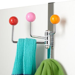Multiplayer Door Hook - Try a colorful door hook for hanging robes, jackets and clothes that don't need washing.