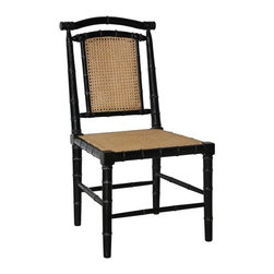 NOIR - NOIR Furniture Colonial Bamboo Side Chair - Features: