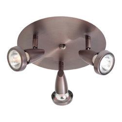 Joshua Marshal - Bronze Mirage 3 Light Flush Mount Ceiling Spot Light with Swivel Base - Bronze Mirage 3 Light Flush Mount Ceiling Spot Light with Swivel Base