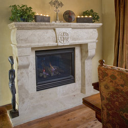 Dining room fireplace - Ancient Dining Room Stone Fireplaces by Ancient Surfaces.