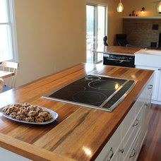 kitchen countertops by reclaimed wood