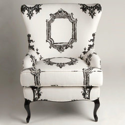 Through the Looking Glass Chair - Make a statement with the clean lines of black and white.