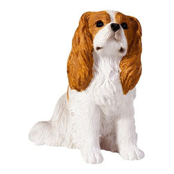 Sandicast - Sandicast Small Size Blenheim Cavalier King Charles Sculpture - SS16902 - Shop for Sculptures Statues and Figurines from Hayneedle.com! The Sandicast Small Size Blenheim Cavalier King Charles Sculpture is your affectionate friend in a miniature size. Looking up at you attentively she is ready to play. The beautiful color of the spaniel is highlighted with hand-painting.About Artist Sandra Brue and SandicastBased in San Diego artist Sandra Brue has been creating art for 25 years. Her hand-cast hand-painted pieces are beloved for their stunning lifelike qualities. Sandra founded Sandicast in 1981 in San Diego; in 2005 the Neufeld family acquired Sandicast in order to allow Sandra more time to devote to philanthropic endeavors. The company is still a proud vendor of Sandra Brue's sculptures.How to care for your Sandicast Statues:Regularly dust Sandicast statues with a dry soft toothbrush in order to keep them looking their best. To wash them moisten a terry towel and gently wipe them down. You may use soap on white areas but make sure not to use soap on any painted areas as this could damage your sculpture. To avoid maximum wear and tear don't expose your statues to harsh elements. A few precautions and you'll enjoy your sculpture for years to come.
