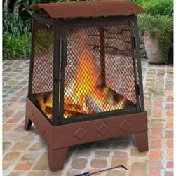 LANDMANN LIMITED - Haywood 21.5 in Firepit - Large 20' fireplace with 360 degree viewing. Sturdy steel construction design for easy assembly. Includes Built-In wood gate and poker. Large hinged door for easy access. Size In: 21-1/2. This item cannot be shipped to APO/FPO addresses. Please accept our apologies.