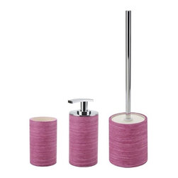 Gedy - Free Standing Purple and Chrome Bathroom Accessory Set - .