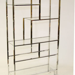 Vintage Milo Baughman Shelving Unit, Chrome by Modern Logic - I love the art deco feel that this bookshelf gives off.