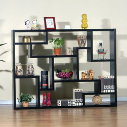 Furniture of America - Furniture of America Mandy Bookcase/ Room Divider Multicolor - ID-11439-BLK - Shop for Bookcases from Hayneedle.com! Call it contemporary call it chic call it clever -- whatever you call the Furniture of America Furniture of America Mandy Bookcase/ Room Divider won't matter quite as much as the Zen-like calm it will bring to your favorite living space. Crafted of sturdy laminate and engineered wood this bookcase doubles as a room divider. It features eclectic storage options designed to fit your eclectic home furnishings. The black finish is versatile and just a tiny bit dramatic. All in all this is one bookcase you'll be ready to stop talking about and start enjoying. Assembly required.About Furniture of America Whether designing the latest workspace engineering a new bookcase or providing the most secure and professional packaging in the industry the people of Furniture of America are driven by an enduring passion for cutting-edge design. Based in sunny California Furniture of America specializes in delivering high-quality design at affordable prices. Thanks to many solid years of research and development experience overseas Furniture of America offers innovative furniture options for innovative living.