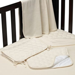 Tl Care - TL Care 5-Piece Organic Cotton Bedding Start-Up Set - Preparing for your baby's arrival is quick, easy and fun with this 100% organic bedding start-up set. So soft and comfortable, your baby will instantly find comfort in this bedding.