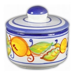 Ceramic - Italian Limoncello Salt or Sugar Bowl - Italian Limoncello Salt or Sugar Bowl